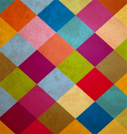 circus background: colorful grunge squares background