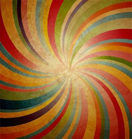 rayas de colores: raya remolino centrado en grunge fondo marr�n