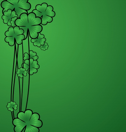 vector green shamrock border for St. Patricks day photo