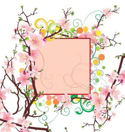 spring and summer vector flower bunners photo
