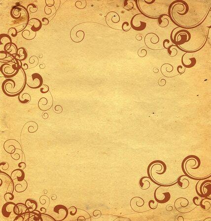 broun: old paper  with broun florishes