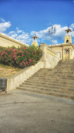 Stairs in Barcelona photo
