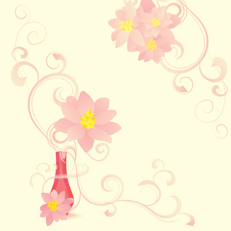 perfumer: flowers blossom perfume abstract vector