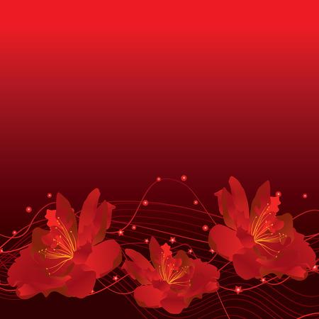 rojo oscuro: flores de color rojo oscuro frontera