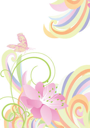 bright light: bright light colorful flower background Illustration