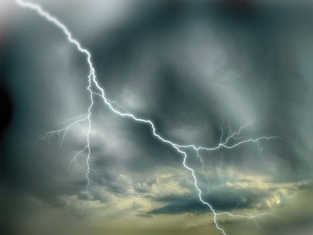 dark skies: dramatic sky storm