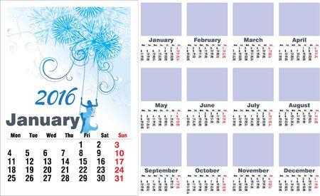 months: 2016 year months english calendar