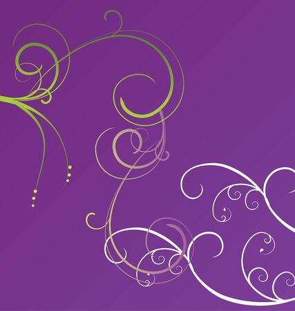 Purple  with flourishes