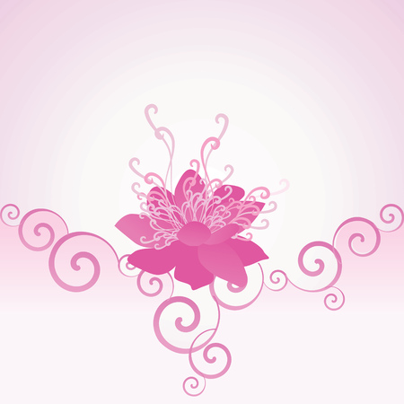 pink flower background: pink vector flower background romance decor