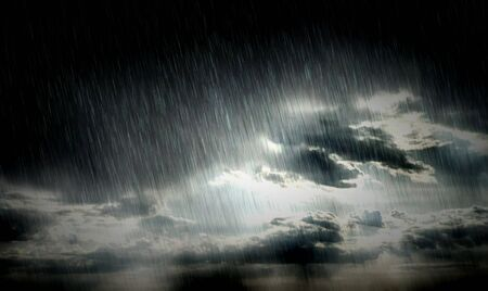 view window: Vivid rainy clouds