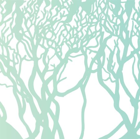 green trees silhouettes vector abstract background