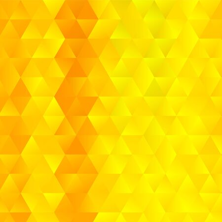 Vibrant yellow triangles textured background