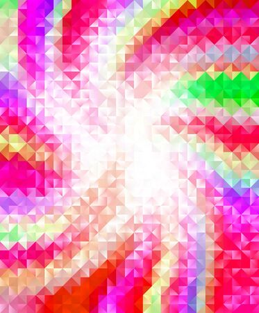 Spiral colors triangle texture vector background