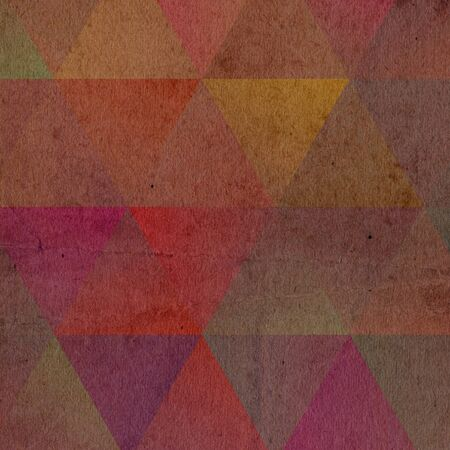 triangles crystal texture old paper texture background template Archivio Fotografico