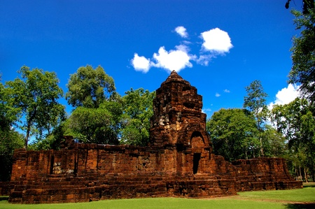 Prasat Muang Sing Historical the Sai Yok district,Kanchanaburi province,Thailand photo