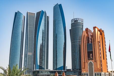 A set of skyscraper in Abu Dhabi, UAE