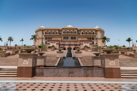 hotel building: The front view of Emirate palace hotel, Abu Dhabi, UAE