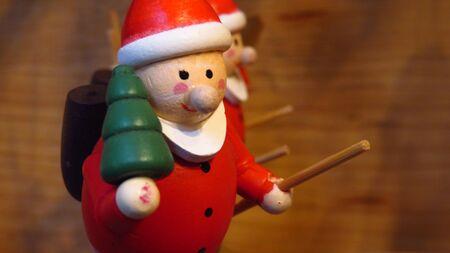 Wooden Santa Claus Christmas Tree Ornament