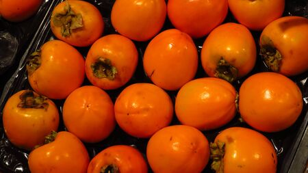 Persimmons in Supermarket