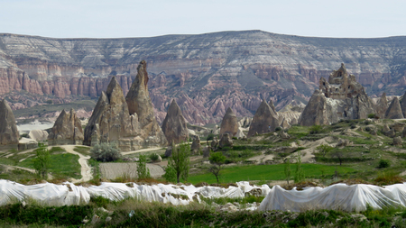 Beautiful Rock Formations in the Landscape of Cappadocia