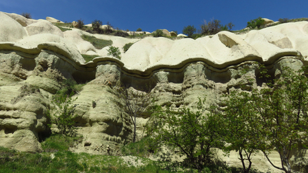 Beautiful Rock Plateau in Cappadocia Stockfoto