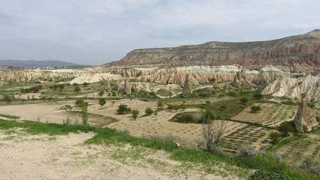 Farm Land in the Volcanic Landscape or Cappadocia