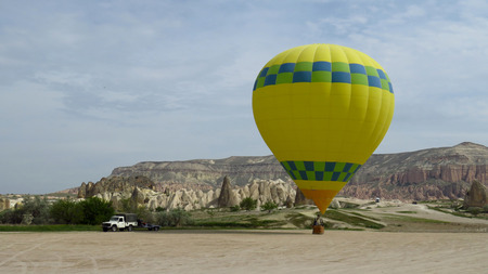 Hot Air Balloon Waiting For Take-Off in Cappadocia