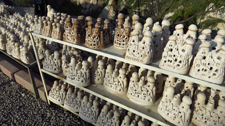 Many Ancient Cave House-Style Souvenirs From Cappadocia Stockfoto