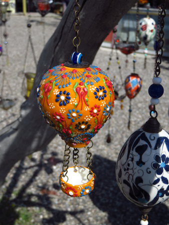 Orange Turkish Ottoman Style Hot Air Balloon Figure From Cappadocia
