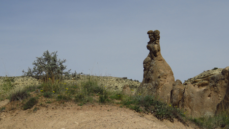 Panorama of Bunny Shaped Rock Formation at Devrent, Imaginary Valley, Cappadocia