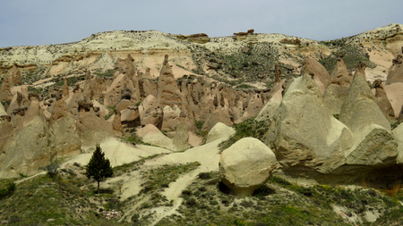 Panoramic view of Devrent, Imaginary Valley, Cappadocia Stockfoto - 100269123