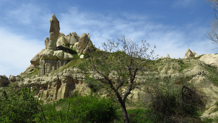 Rock Formation in Cappadocia Stockfoto