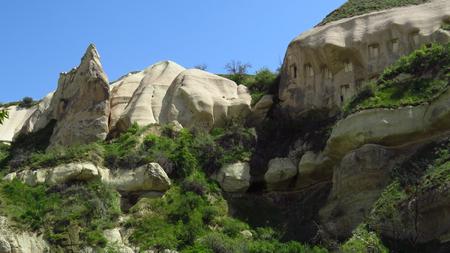 Rock Houses in Göreme, Cappadocia Stockfoto - 100536009