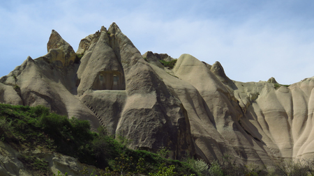 Rock Houses With Stairs in Cappadocia