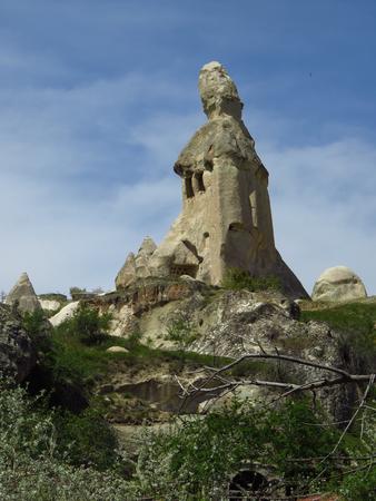 Tall Rock Formation in Göreme, Cappadocia Stock Photo