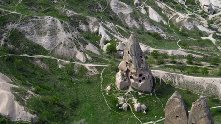 View of a Fairy Tale-like Cave House in Cappadocia Stockfoto