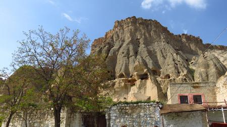 View of Selime Monastery in Cappadocia Stockfoto