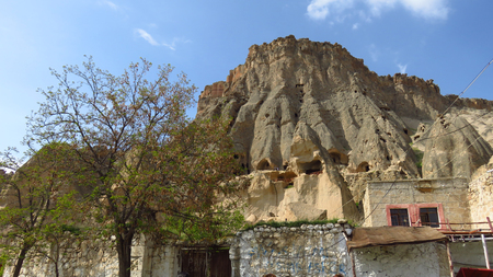 View of Selime Monastery in Cappadocia Stockfoto