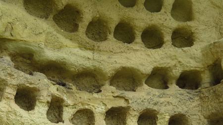 Ancient Pigeon Holes in Cappadocia's Caves Dwellings