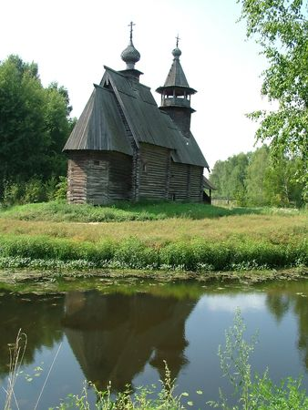 Russia, Kostroma, museum of wooden architecture. Chapel 2 Stock Photo