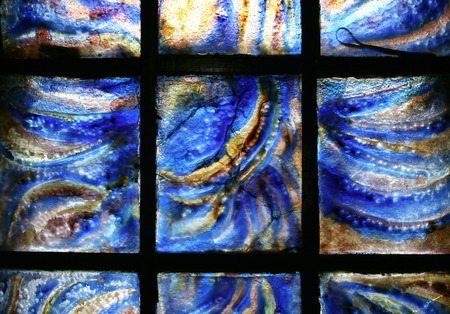 Stained-glass panel in the museum  photo