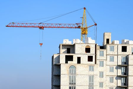 voronezh: Building of high-rise houses in Voronezh city
