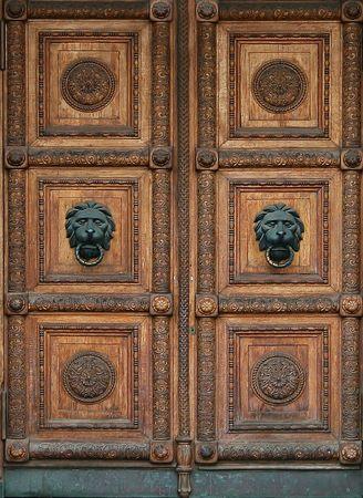 Very beautiful, door into the museum photo