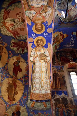 iconography: Icons on the walls in Spaso- Preobrazhenskiy the cathedral
