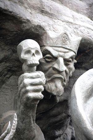 彫刻の組成のおとぎ話の文字