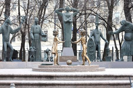 mikhail: Sculpture composition. Evils that surround us