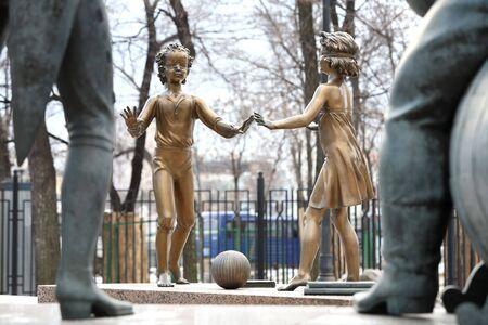 Sculpture composition. Evils that surround us photo