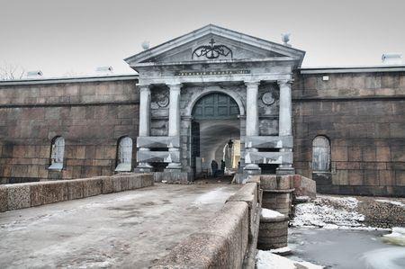 Neva portes de la forteresse de Petropavlovsk Banque d'images - 2668500