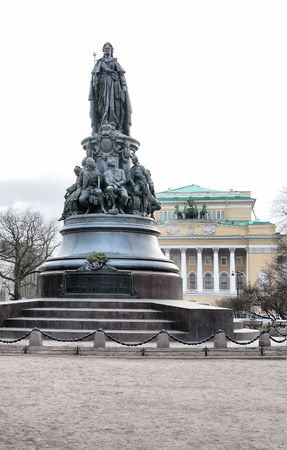 empress: Monument to empress and the Alexandrine theater