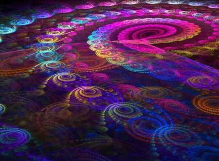 simulations: Spiral from the color